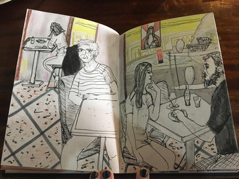 Sketch in a Snack Bar