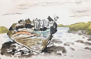 Ship Wreck at Seashore
