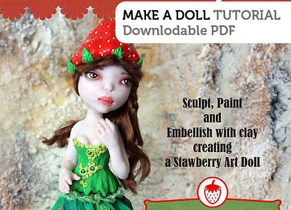 How to Sculpt Strawberry Darling art doll in polymer clay PDF