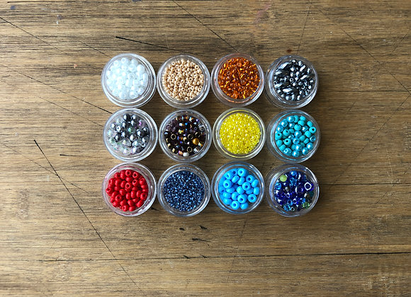 BEADS SET 2 12 containers