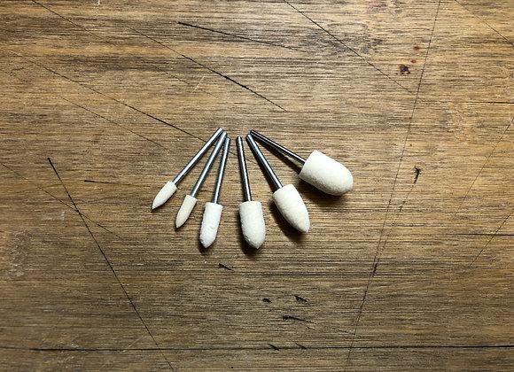 Polishing wool felt bits for dremel rotary tool