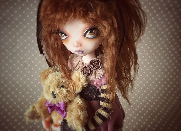 Madeline Child doll Polymer Clay