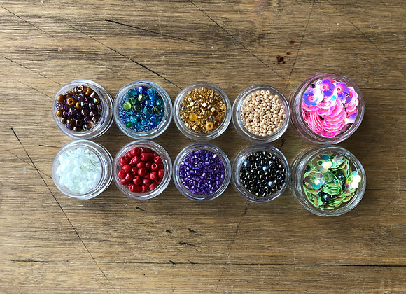 BEADS SET 3 10 containers