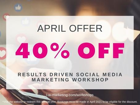 40% Off Social Media Marketing Workshop