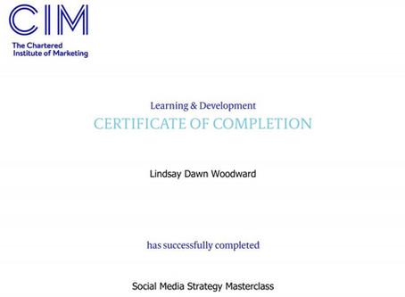 Social Media Masterclass Completion
