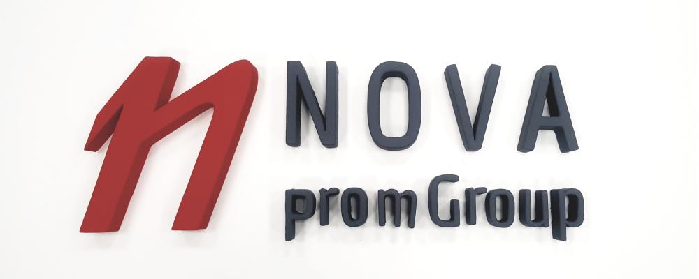 3D логотип в офис NOVA Prom Group
