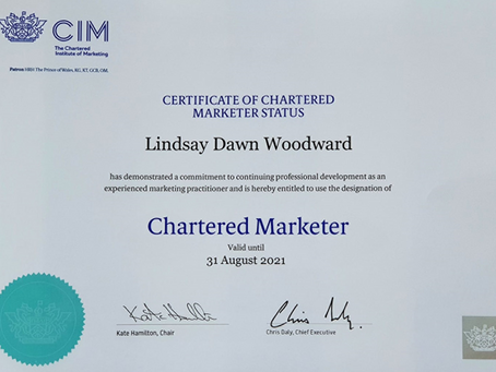 7th Year as Chartered Marketer