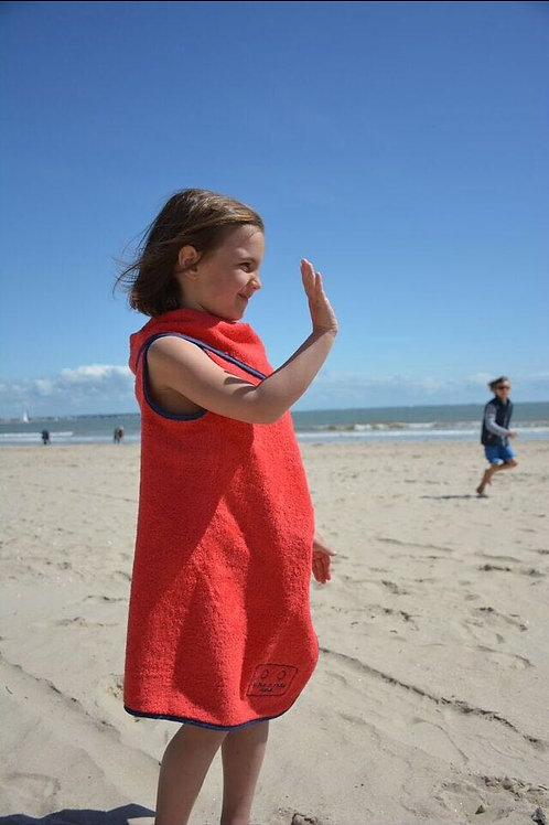 Serviette de plage enfant ROUGE biais marine
