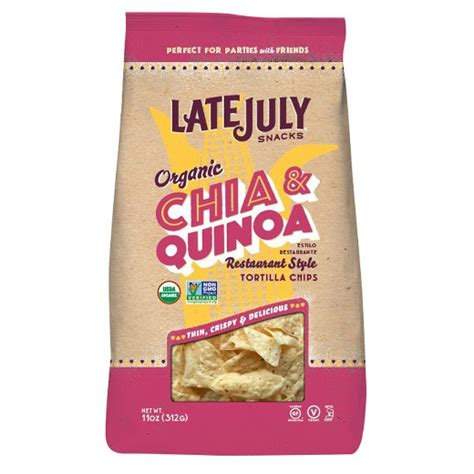 Late July Tortilla Chip Chia Quinoa