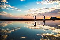 父母濱海岸天空之鏡