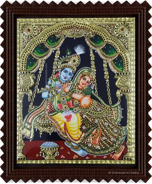 Happy (Prosperous) Swing Radha Krishna