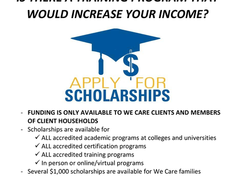 We Care opens scholarship applications