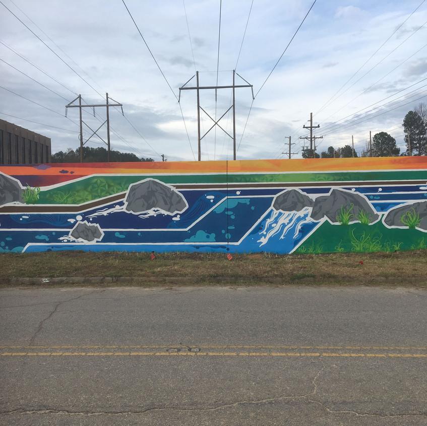 Mural added near river