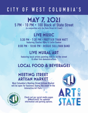 Shop Local for Mom at West Columbia's Art on State and Night Edition Meeting Street Artisan Market