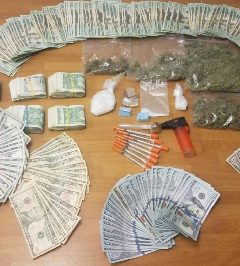Drugs seized from Burgess