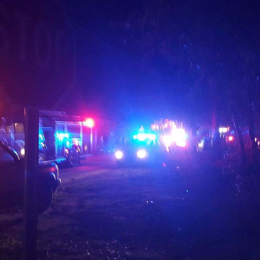 Boozer Street fire W Columbia
