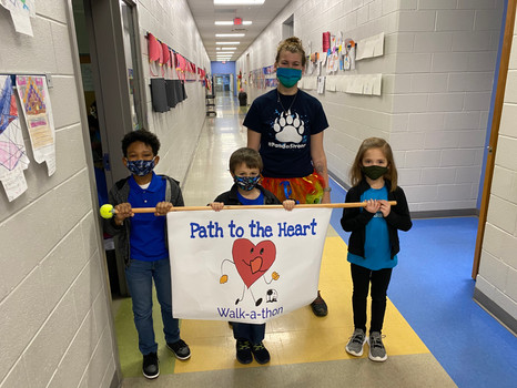 East Point Academy 1st Graders walk to support Lamere Johnson