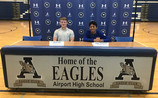 Two Airport High School soccer players sign to play at the collegiate level