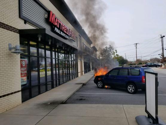 Fire at Mattress Firm