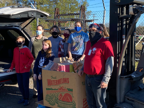East Point Academy Middle Campus collects over 300 pounds during Canned Food Drive