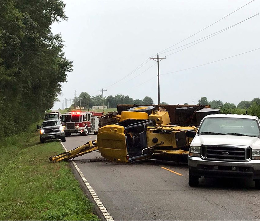 B&L fire on tractor accident