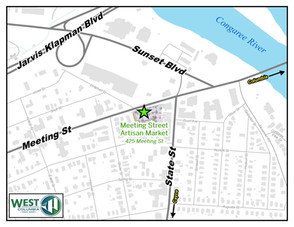 West Columbia's Meeting Street Artisan Market, Saturday, 9 AM - 1 PM