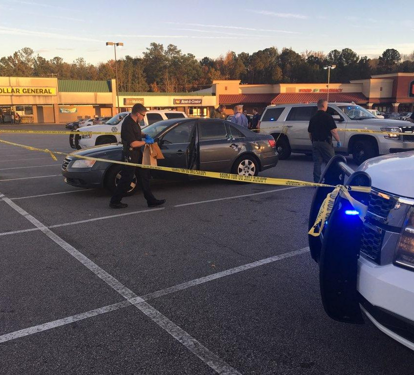 Car shot on interstate near Cayce