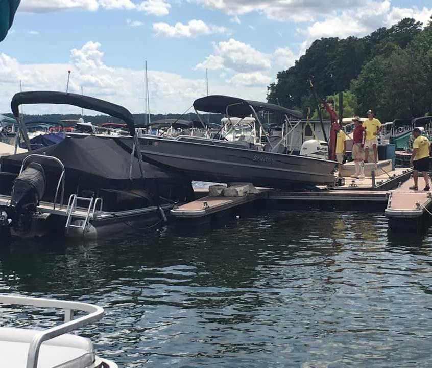 Boat Accident Jake's Landing