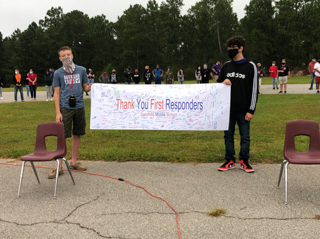 Sandhills Middle School Honors First Responders