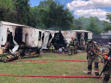 West Columbia & Lexington County firefighters fight mobile home fire Monday afternoon