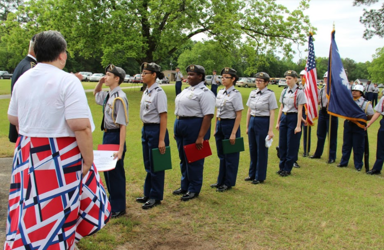 The B-L High School JROTC held its annual awards ceremony on Friday, May 10th in the front courtyard of B-L High School.