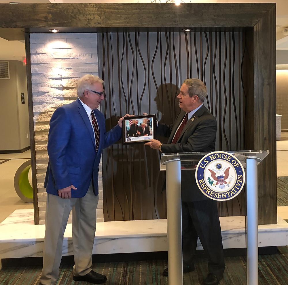 Congressman Joe Wilson (R-Springdale) and Cipkala, President and CEO of Solara Hospitality in West Columbia