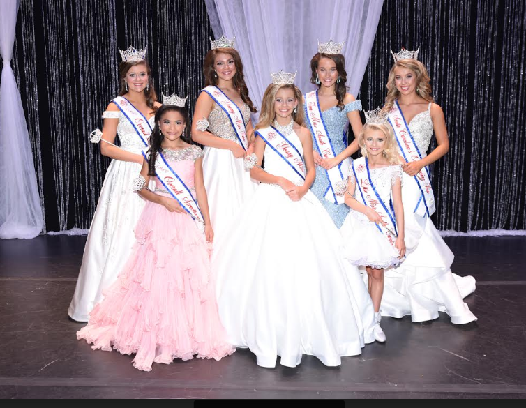 Front Left to Right: Willow Holmes – LMSC Overall Sweetheart from Conway, Makenzi Thompson – Young Miss SC from Florence, Alexis Moore – Little Miss SC from Chapin Back Left to Right: Susannah Counts – LMSC Overall Queen from Gilbert, Emily Garris – Young Miss Teen SC from Gilbert, Madison Barrett – Teen Miss SC from Lexington and Taylor Spires – SC's Outstanding Teen from Gilbert