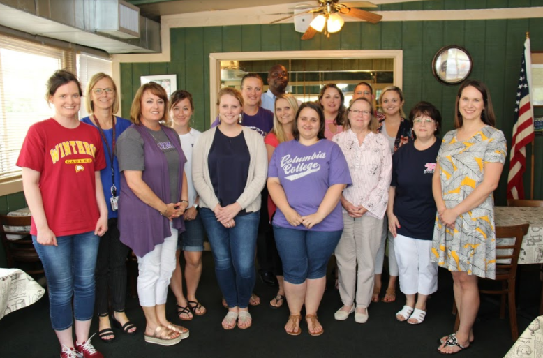 Pictured from left to right are some of the Tech Up Challenge participants: Jill Slapnik, Andrea Derrick, Sharah Clark, Kimberly Lawson, Courtney Richardson, Courtney Ingle, Jonathan Robinson, Kelly Johnson, Ashley Dyches, Megan Schulte, Cherlyn Anderson, William Ash, Veronica Brandau, Lynn Paxton and Ashley Fort.