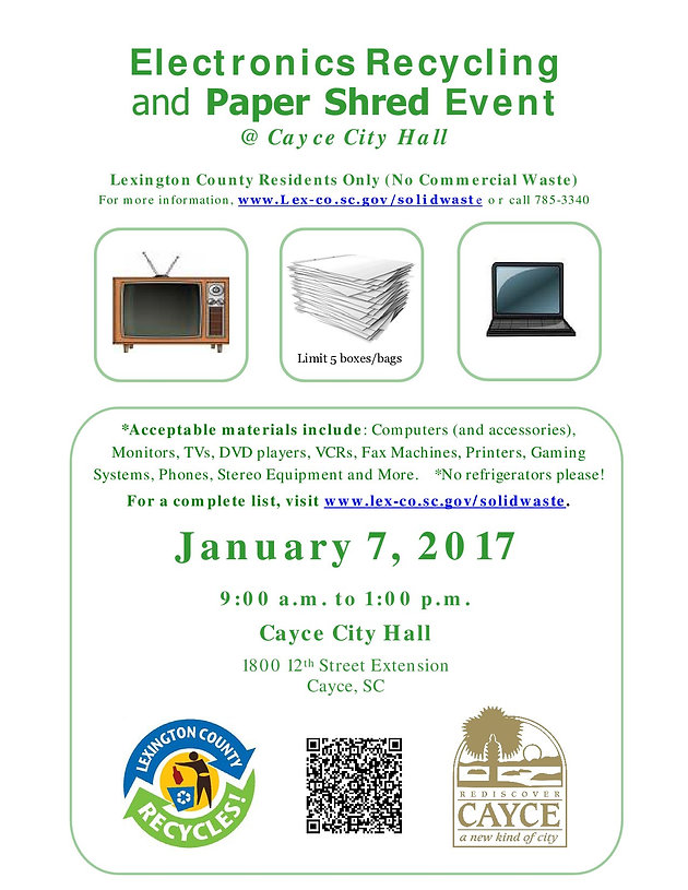 Lexington County Electronic Waste Recycling & Paper