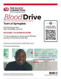 Town if Springdale host Blood Drive in May