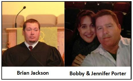 (L) Brian Jackson & (R) Bobby Porter with his wife Jennifer