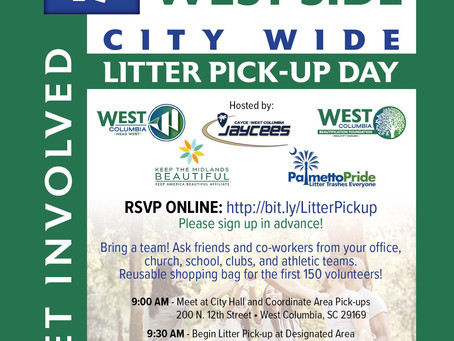 West Columbia hosts city-wide litter pickup, Saturday, April 17, 2021