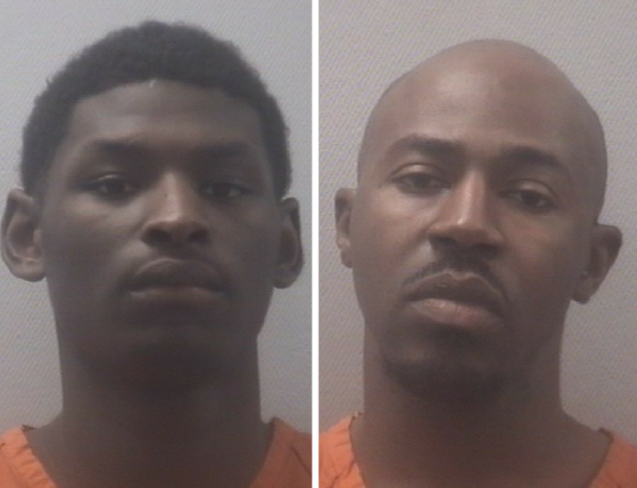 L to R - Quintrell Morris of Hopkins and 30-year-old Brandon Thompson of Columbia