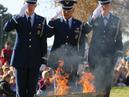 American Legion Post #90 holds solemn event to retire American Flags