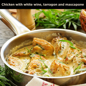 Chicken in White Wine, Tarragon and Mascarpone Sauce