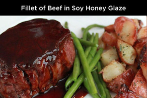 Fillet of beef in Soy Honey Glaze