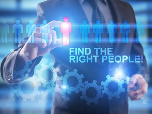 Recrutiment and HR concept. Businessaman