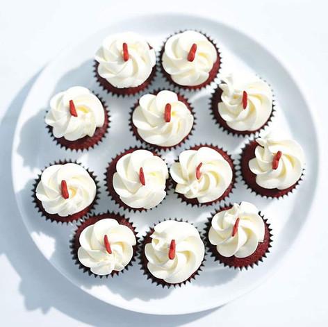 Mini Red Velvet Cupcakes ❤__Photographed