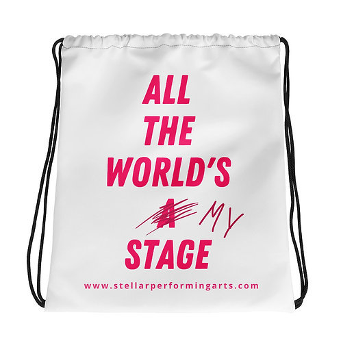 All The World's My Stage Bag - Neon Pink
