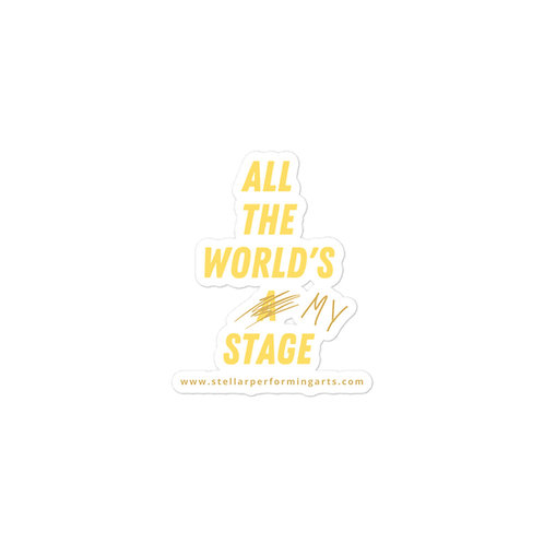 All The World's My Stage Sticker - Yellow Pop