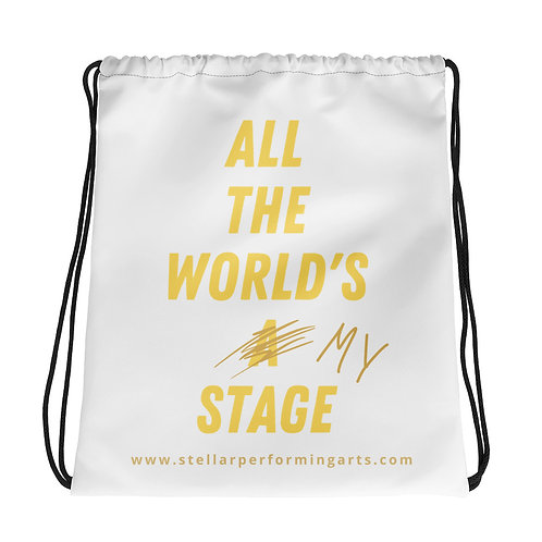 All The World's My Stage Bag - Yellow Pop