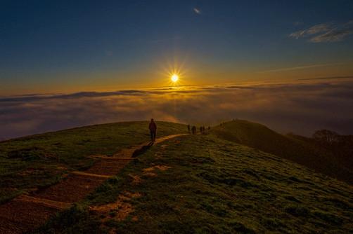 Avalon Mists beneath the sunset