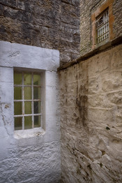 Whitewashed Prison Walls