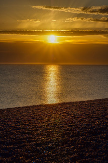 Sunset at Chesil